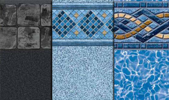 Vinyl swimming pools s s pools for Pool liner designs