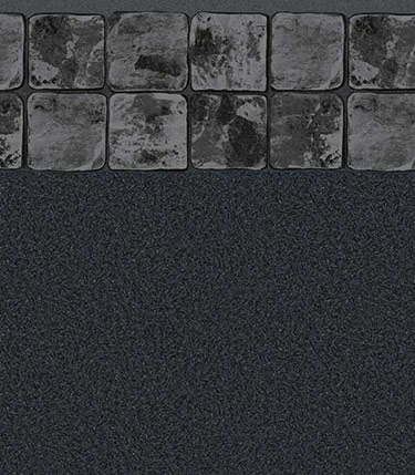 Slate Gray / Black Granite